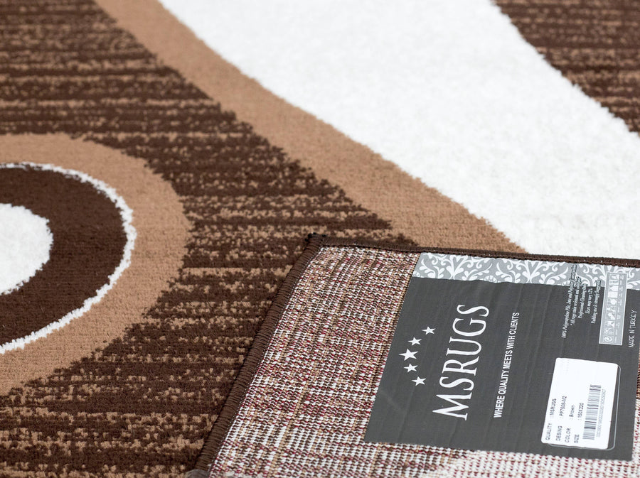 Spotted Brown Area Rug F 7508 - Context USA - Area Rug by MSRUGS