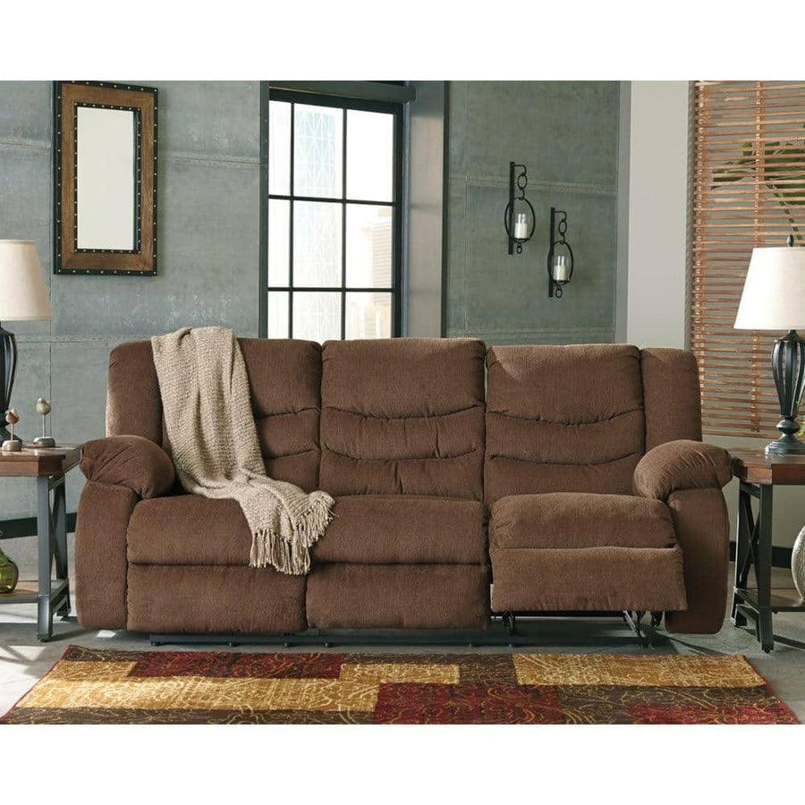 Tulen Chocolate Reclining Sofa (Pickup only)