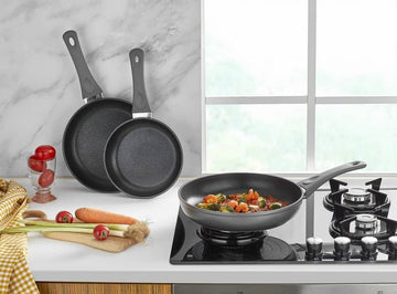 3 PIECE FRY PAN SET