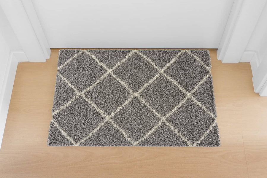 Moon Trellis Shaggy, Contemporary  Area Rug 450