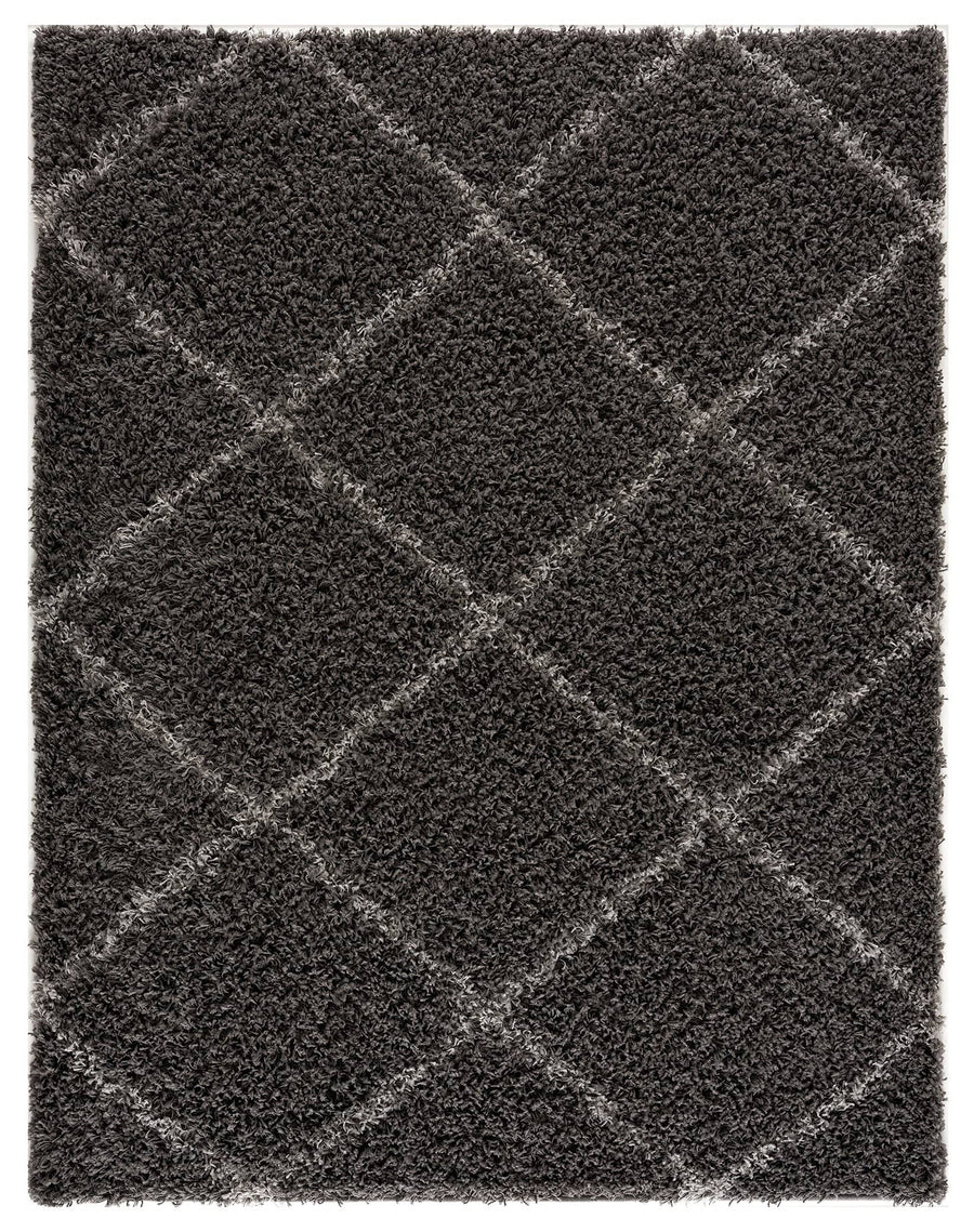 Moon Trellis Shaggy, Contemporary  Area Rug 475