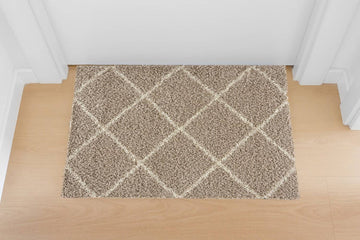 Moon Trellis Shaggy, Contemporary  Area Rug 650
