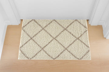 Moon Trellis Shaggy, Contemporary  Area Rug 750