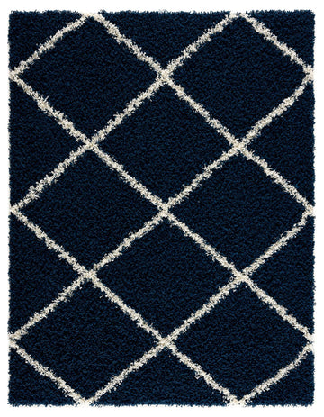 Moon Trellis Shaggy, Contemporary  Area Rug 850