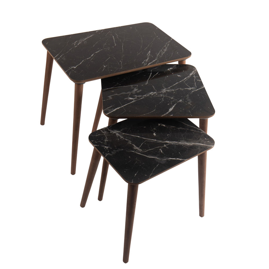 Black Nested Table set