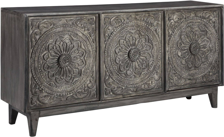 Antique Gray Fair Ridge Accent Cabinet