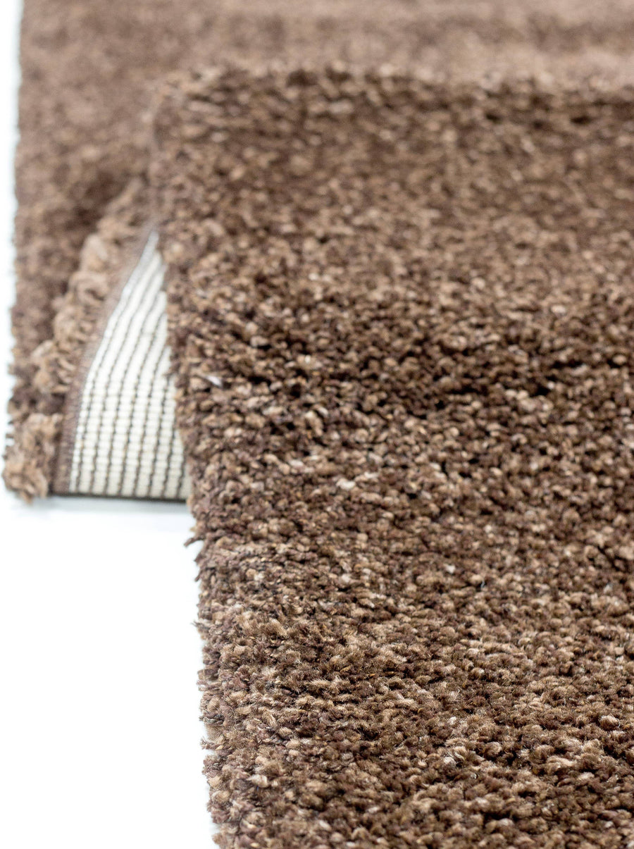 Super Shaggy Area Rug Brown 1810 - Context USA - Area Rug by MSRUGS