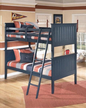Black 3-Piece Twin over Twin Bunk Bed