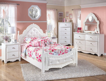 White Exquisite Full Poster Bed