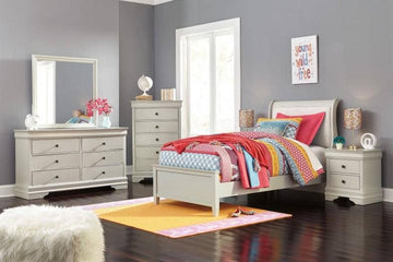 Jorstad White TWIN/FULL Bedroom Set