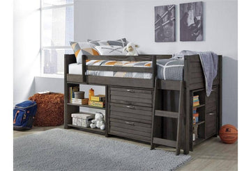 Twin Loft Bed with 1 Large Storage Drawer