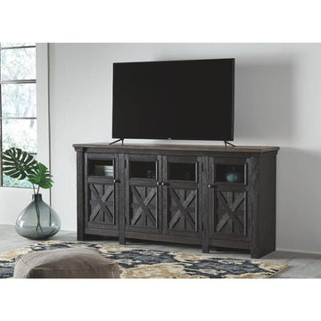 Tyler Creek Black/Gray Extra Large TV Stand