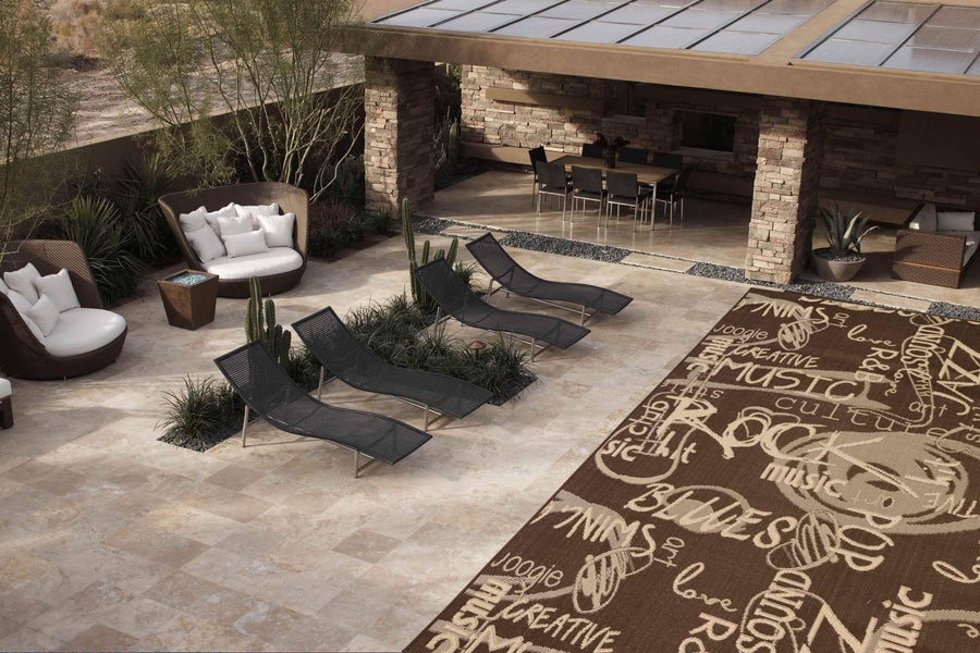 Jazz Indoor/Outdoor Rugs Flatweave Contemporary Patio, Pool, Camp and Picnic Carpets FW 546 - Context USA - Area Rug by MSRUGS