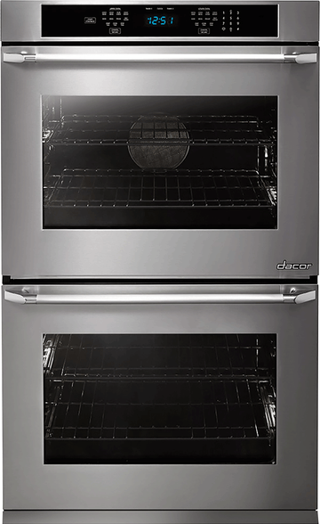 Dacor Distinctive 30 Inch Double Electric Wall Oven with Convection, Steam, Self-Clean, Hidden Bake