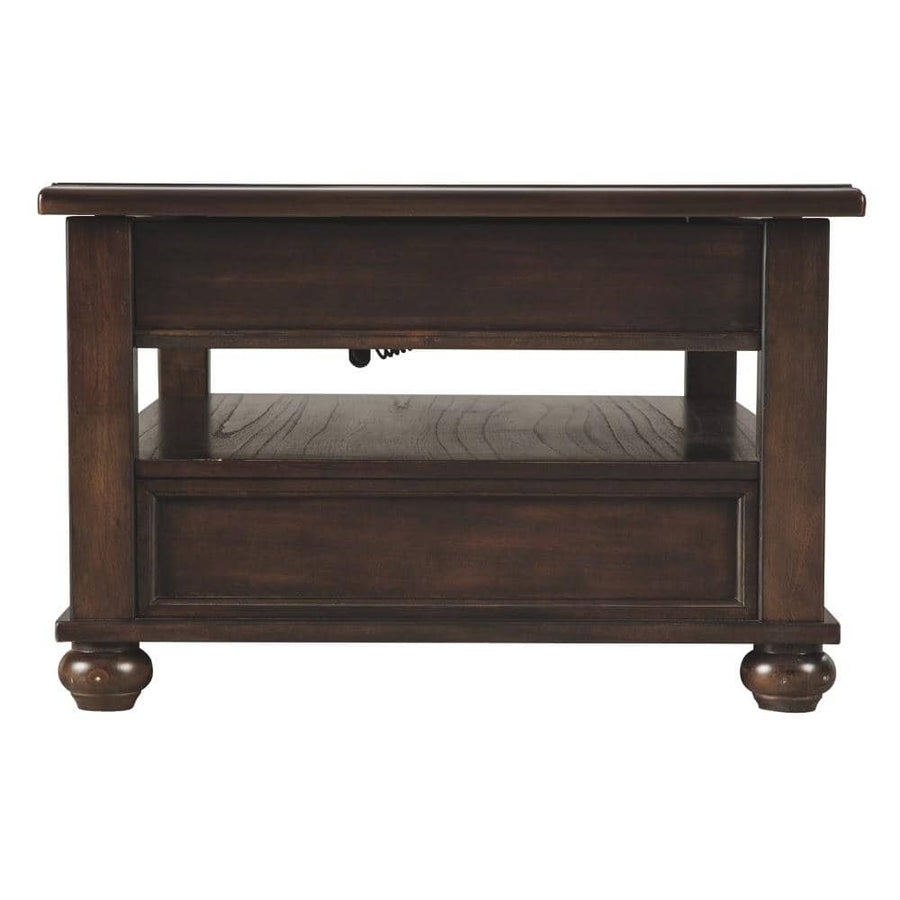 Lift Top Dark Brown Cocktail Table