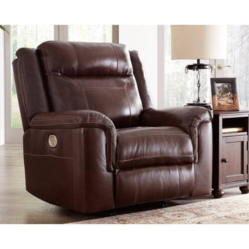 Wyline Coffee Power Recliner/Adjustable Headrest