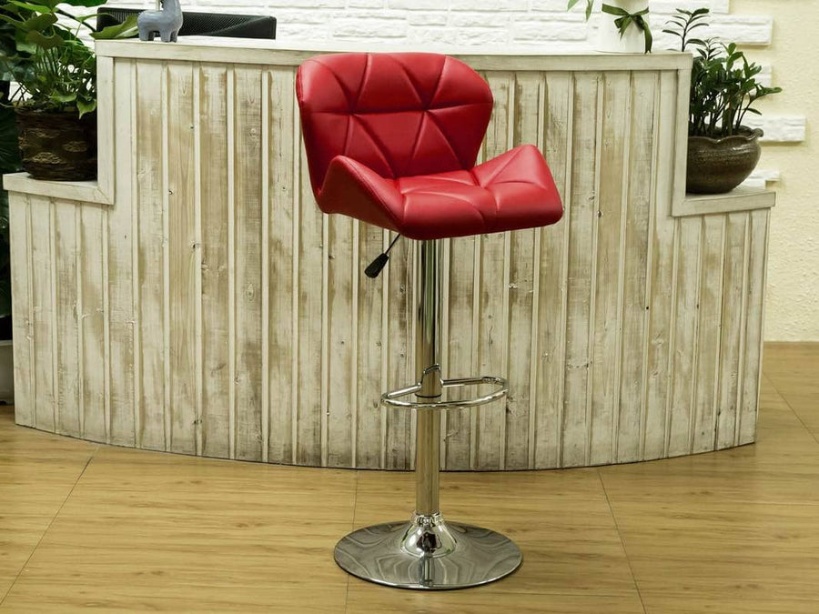 HHC2201 Red Bucket Seat Barstool