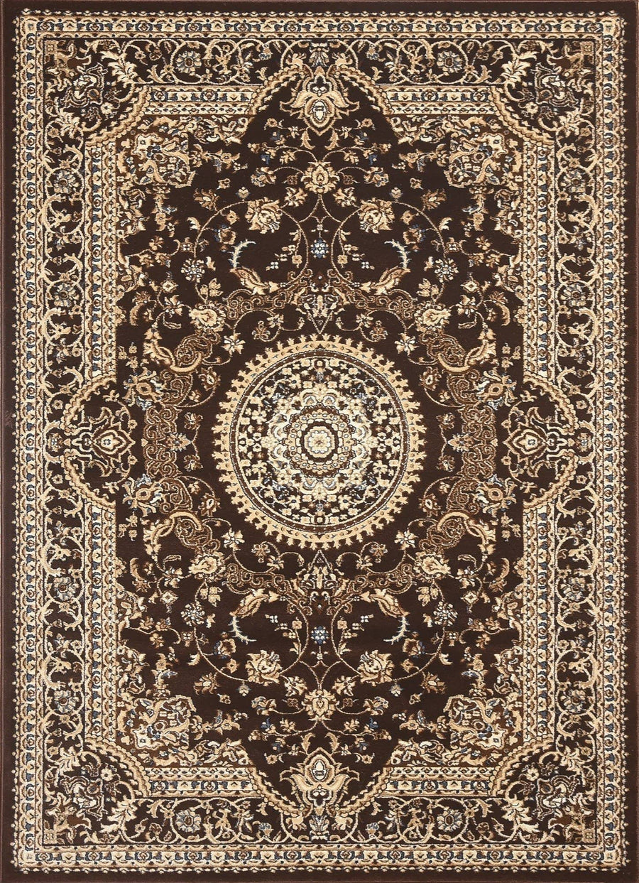Msrugs Traditional Oriental Medallion Brown Beige Area Rug Persian Style Rug