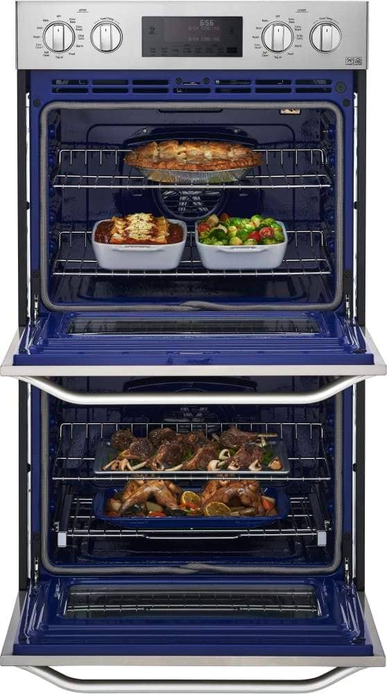 LG 30 Inch Double Electric Wall Oven with Convectionc Temperature Probec EasyCleanc 9.4 Total Capacity