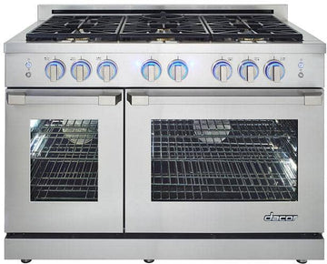 48 Inch Freestanding Gas Range with 6 Sealed Burners