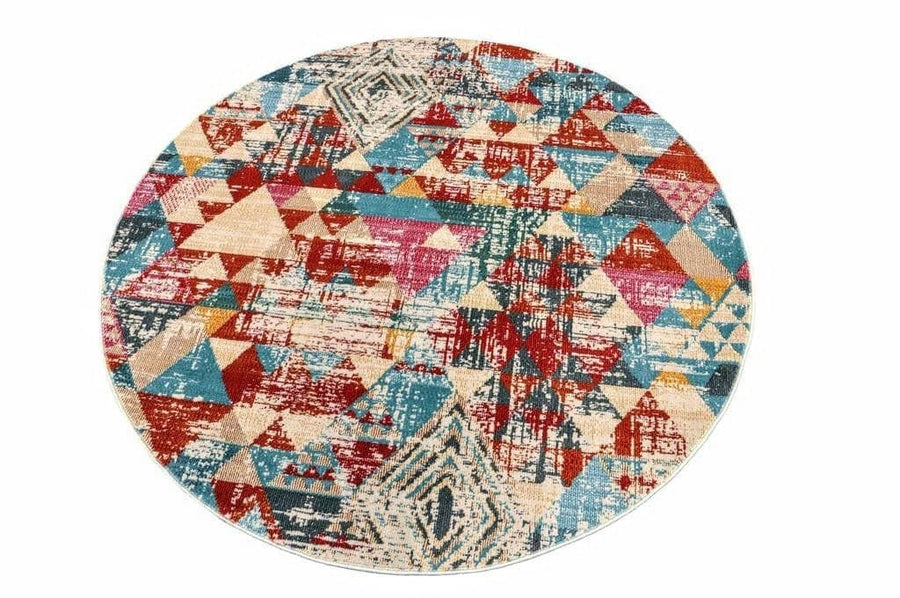 Geometric Vibrant Vintage Area Rug V107A - Context USA - Area Rug by MSRUGS