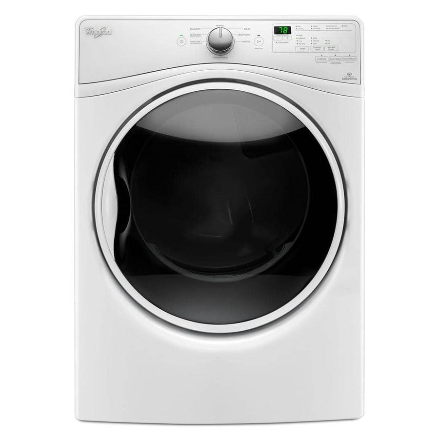 7.4 cu. ft. 120 Volt Stackable White Gas Vented Dryer with Advanced Moisture Sensing