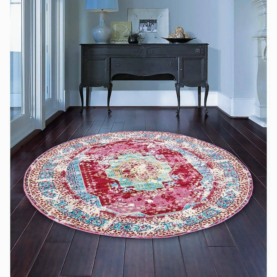 Magenta Rooted Vintage Area Rug V051A - Context USA - Area Rug by MSRUGS
