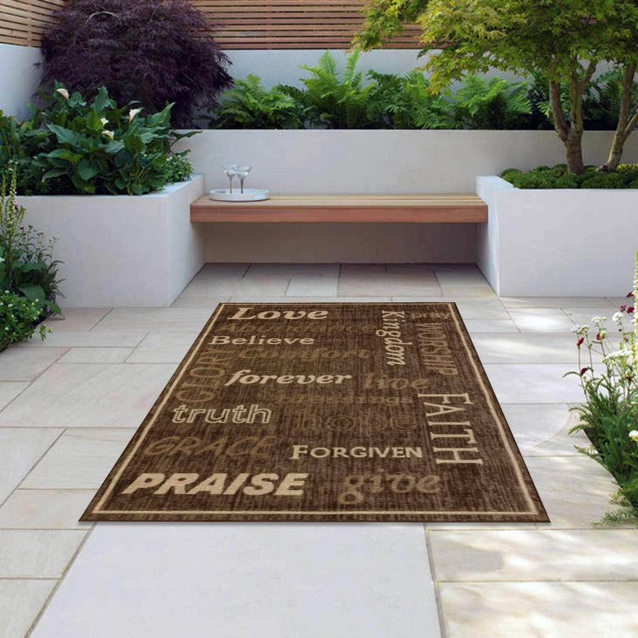 Kingdom Indoor/Outdoor Rugs Flatweave Contemporary Patio, Pool, Camp and Picnic Carpets FW 333 - Context USA - Area Rug by MSRUGS