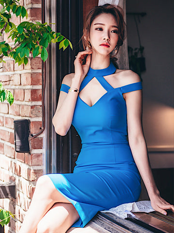 Lorryn Dress In Blue