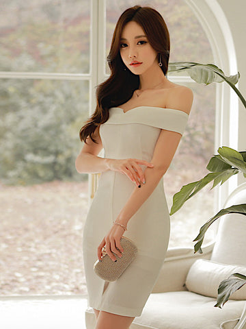 Chelisa Dress In White