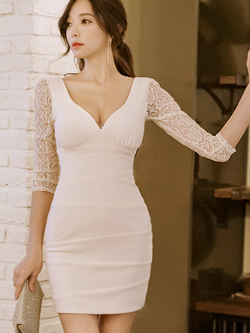 WESTLYN SEXY WHITE LACE DRESS