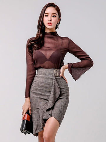 SAMIA TOP AND SKIRT SET