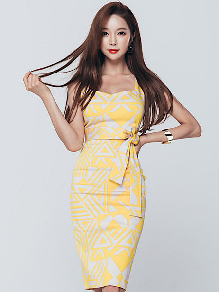 Luelle Dress In Yellow
