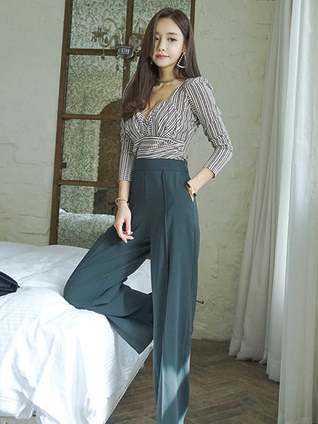 BLAIR SLIM TOP AND WIDE LEG PANTS SET