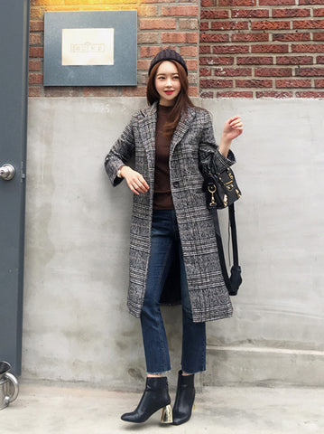ADRIANNA PLAID COAT