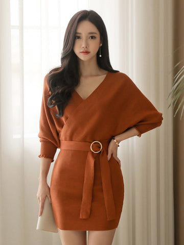 GISELLE BAT SLEEVE DRESS