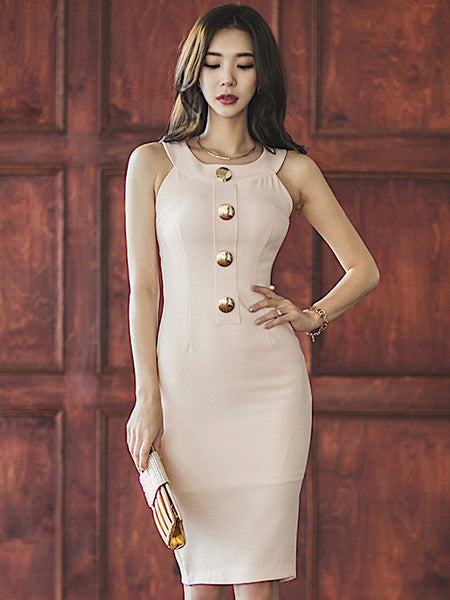 Millay Bodycon Dress In Pink