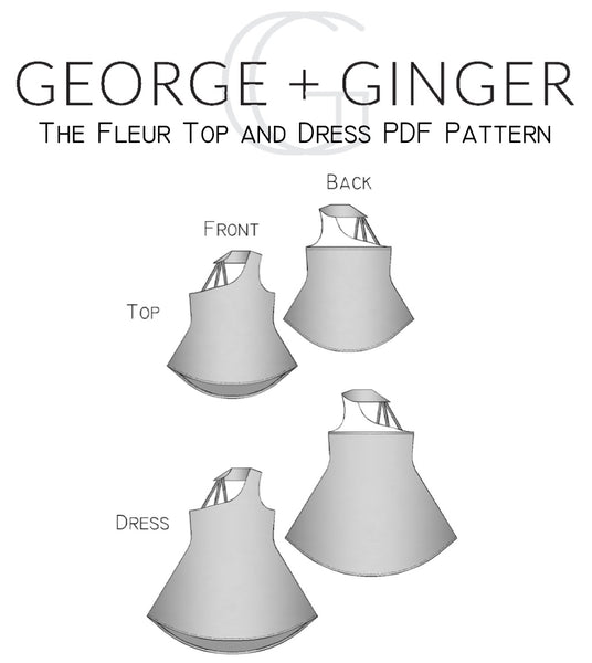 The Fleur Top and Dress PDF Sewing Pattern