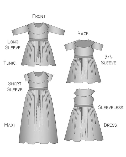 The Clover Dress (Women's Sizes) PDF Sewing Pattern