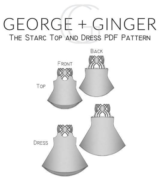 The Starc Top and Dress PDF Sewing Pattern