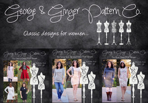 The Fancy Front Collection (Women's Sizes) PDF Sewing Pattern