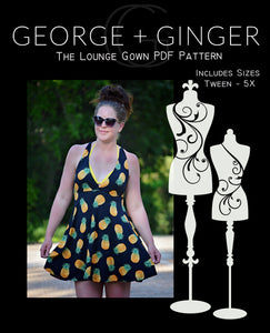 FREE Lounge Gown PDF Sewing Pattern