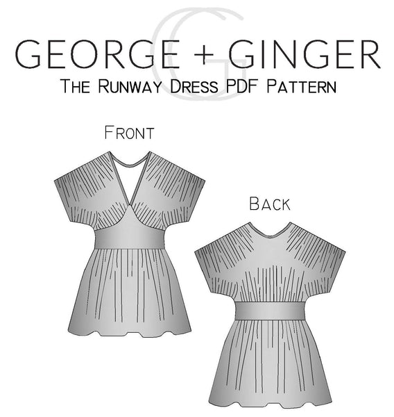 The Runway Dress PDF Sewing Pattern