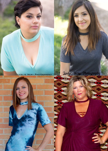 The Rebel Choker Tee (Women's Sizes) PDF Sewing Pattern
