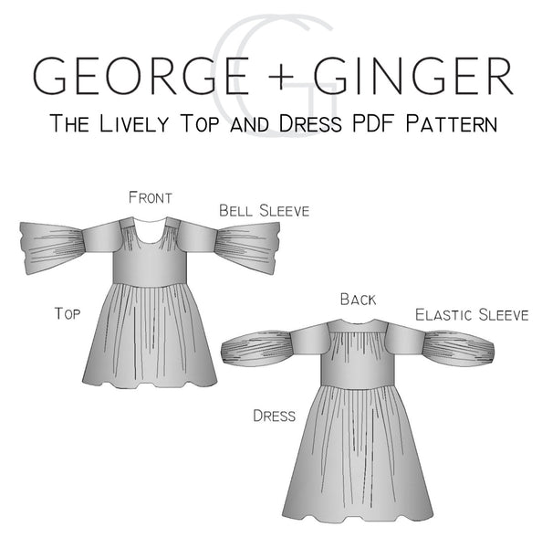 The Lively Top and Dress PDF Sewing Pattern