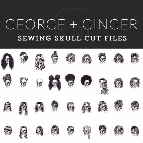 Sewing Skull (Full Set Bundle) Digital Cut File