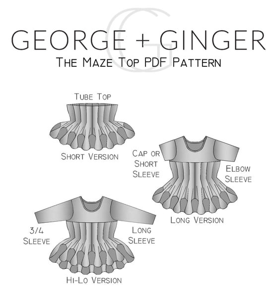 The Maze Top PDF Sewing Pattern
