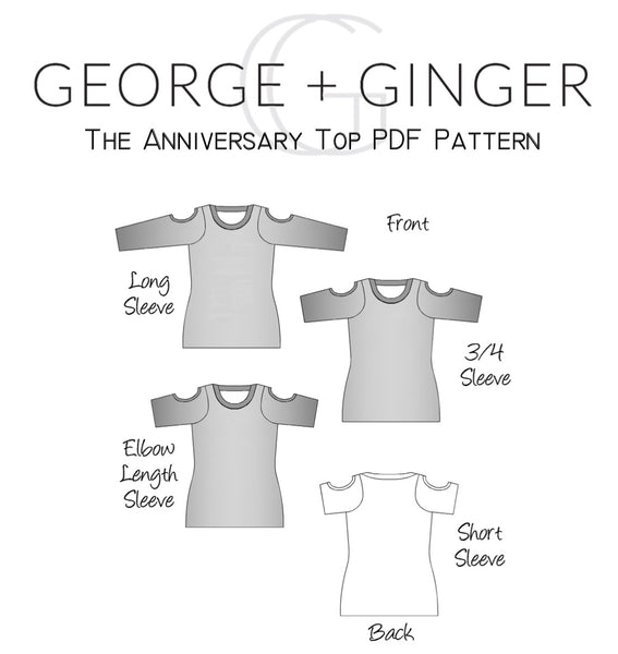 The Anniversary Top PDF Sewing Pattern