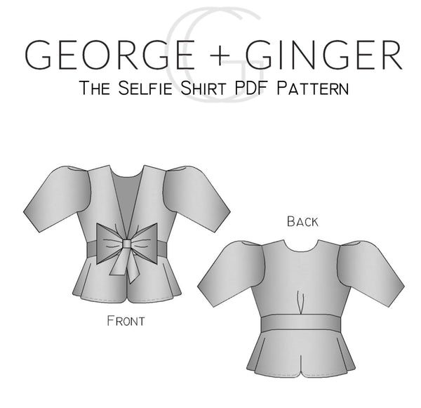 The Selfie Shirt PDF Sewing Pattern