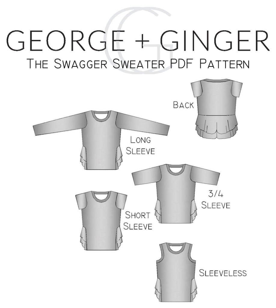 The Swagger Sweater (Women\'s Sizes) PDF Sewing Pattern – George And ...